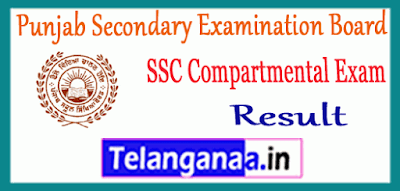 Punjab Secondary Examination Board 10th Compartment Reappear Result