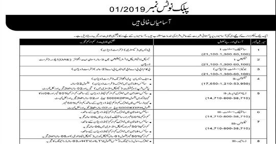 PAEC Jobs 2019 for Scientific Assistant-I/III, Jr Assistant