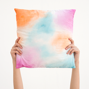 DIY Room Decor Watercolor Pillowcase