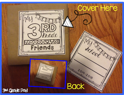 This End of the Year Paper Bag Autograph Book is the perfect activity for the last few weeks of school!  I love that I can create a Teacher memory page, too!