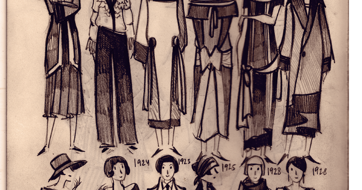 1920's fashion Moleskine doodles
