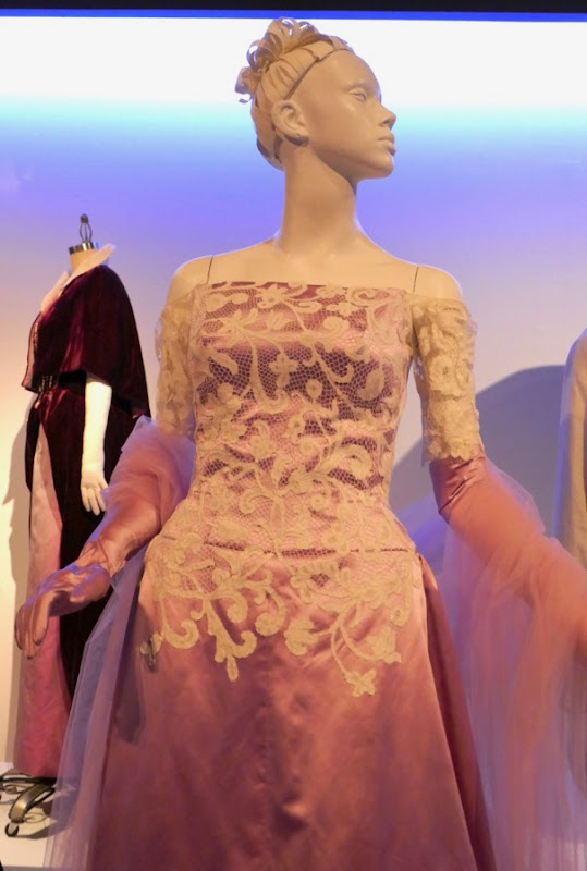 Phantom Thread Alma pink and white lace gown