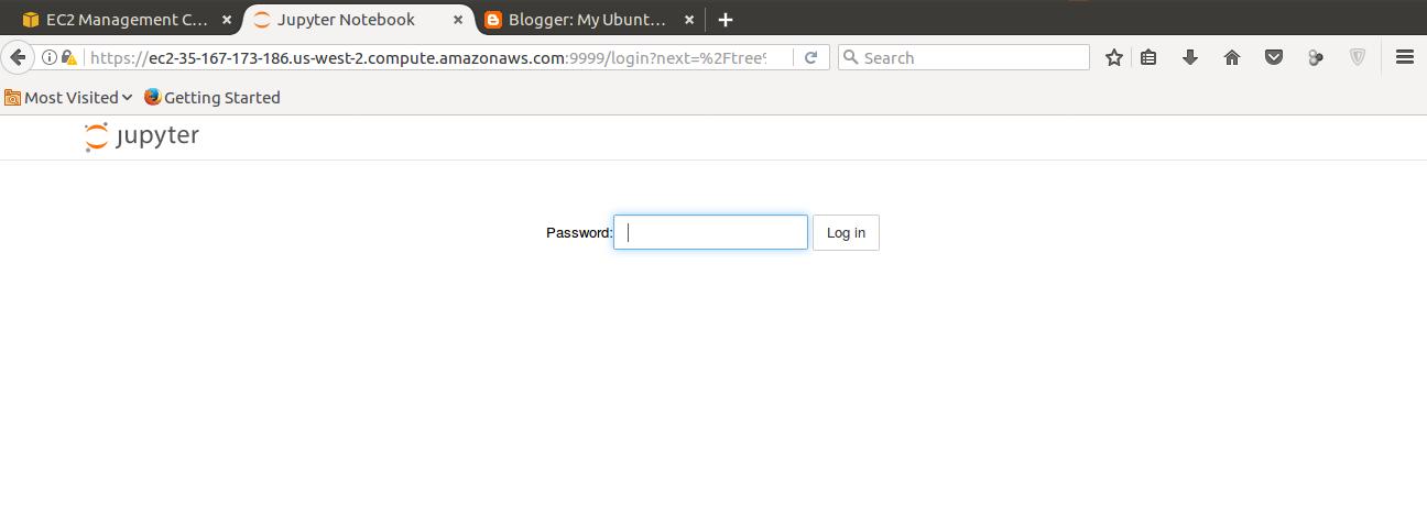 Install Jupyter notebook on the AWS EC2 Instance | My Ubuntu