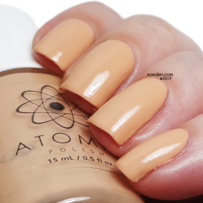 xoxoJen's swatch of Atomic Polish Si (Silicon)