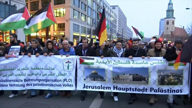 Protesta en Alemania contra la decisión de Trump sobre Al-Quds