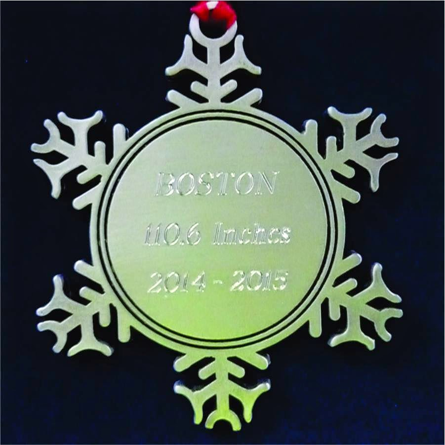 Engraved Pewter Snowflake