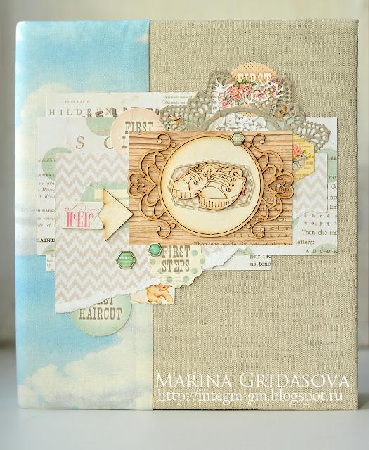 babybook | I-Kropka DT @akonitt #babybook #by_marina_gridasova #prima #heaventsent #chipboard #i-kropka