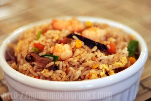 Shrimp-Shitake Mushroom Fried Rice Recipe