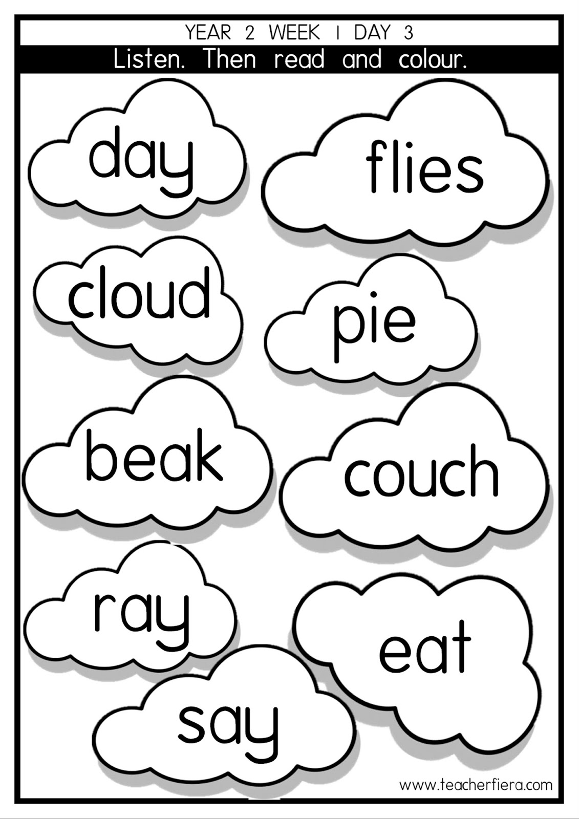 Teacherfiera Year 2 Phonics Lessons Week 1