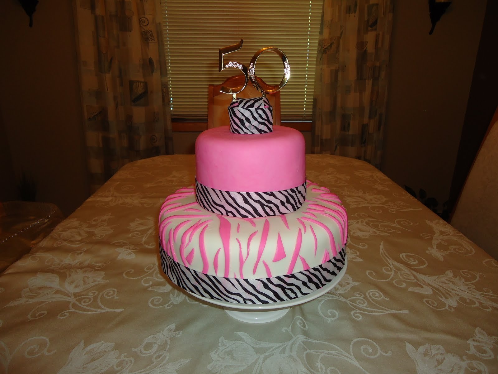 Cakes By Alissa: 50th Zebra Birthday Cake