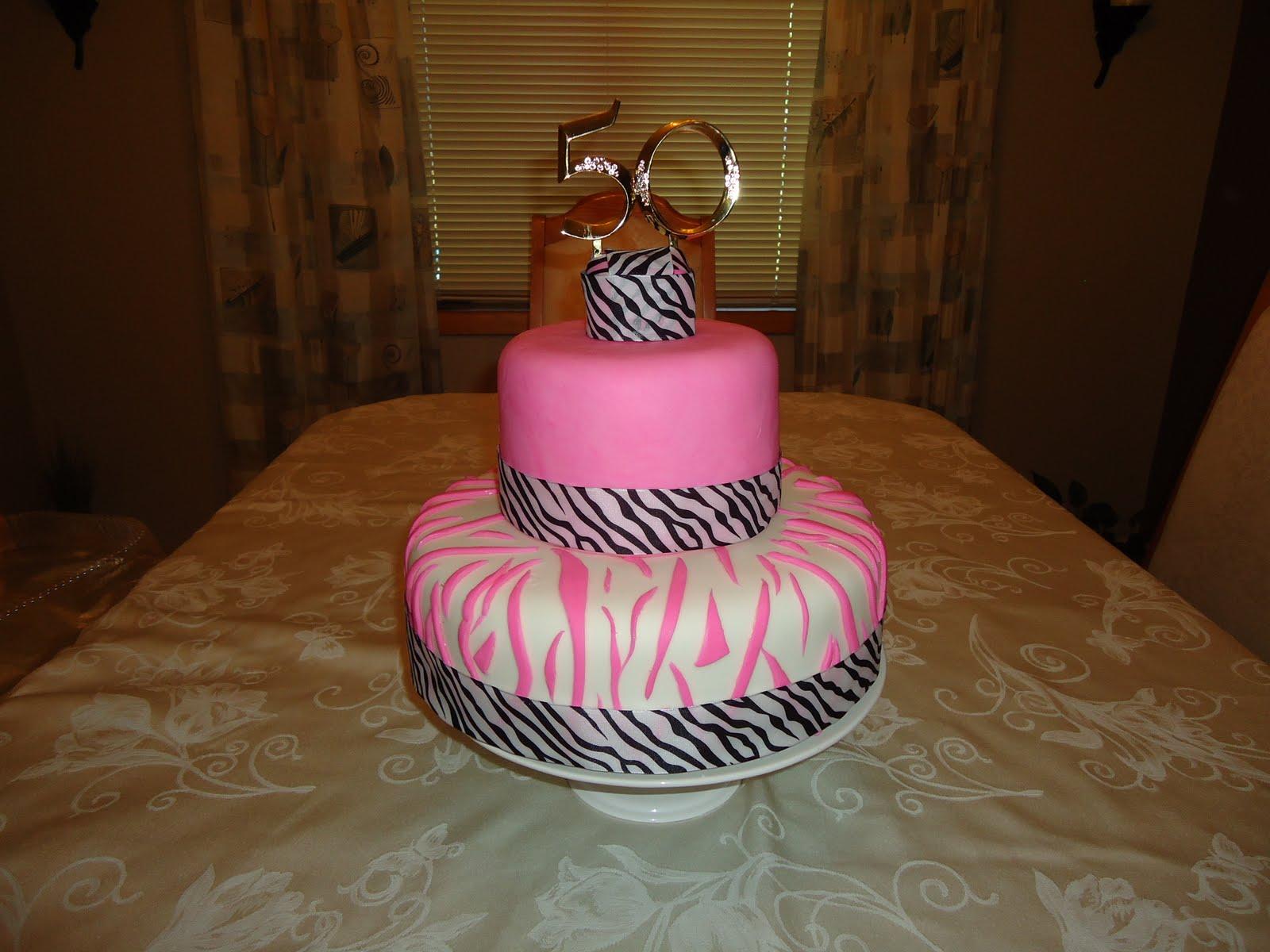 Cakes By Alissa 50th Zebra Birthday Cake