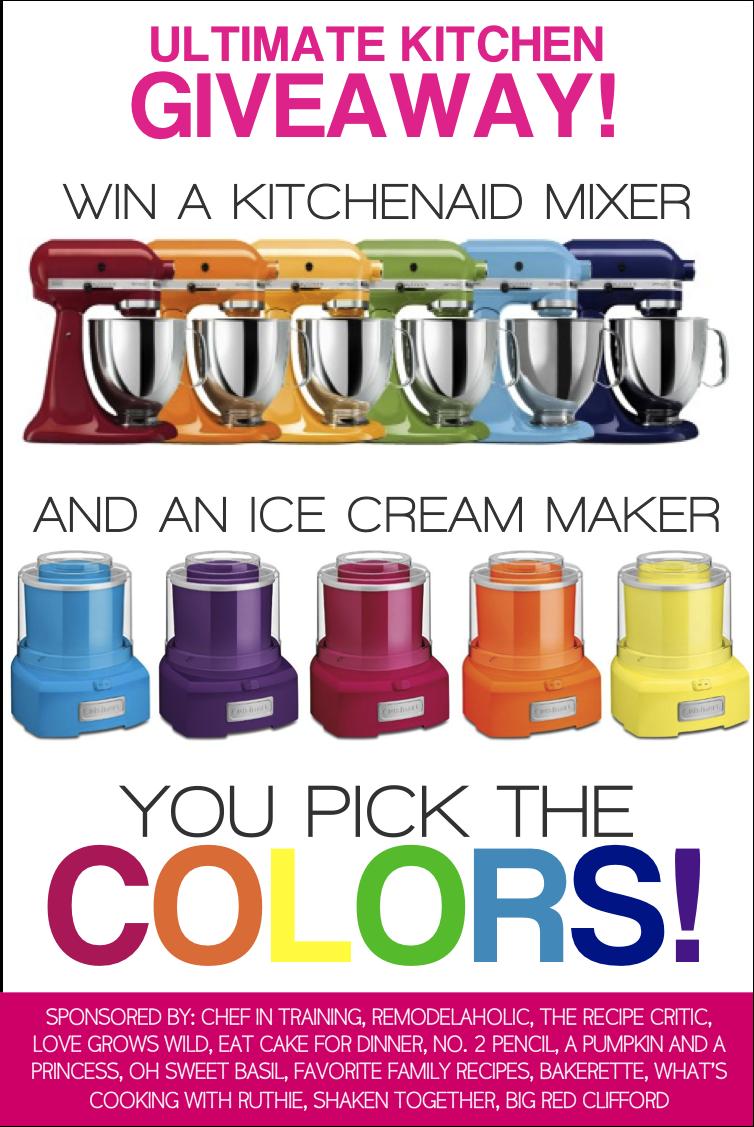 Walmart Kitchen Aid Mixer Best Stainless Steel Sink 终极厨房赠品 赢一个立式搅拌机和冰淇淋机 你选择颜色 爱变得狂野 在lovegrowswild Com 网站上 进入赢取厨房用具搅拌器和