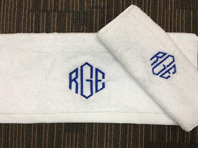 Personalized towels with name monogram