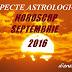 Aspecte astrologice în horoscopul septembrie 2016