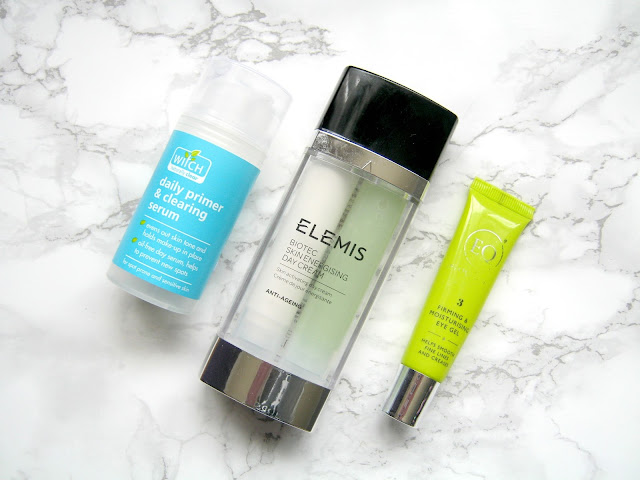 skincare routine witch daily primer clearing serum elemis biotec eloquence eye gel