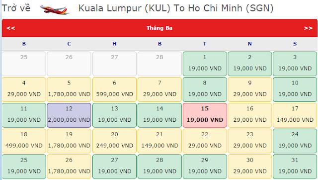 Thật bất ngờ Sài Gòn đi Kuala Lumpur giá chỉ 29.000 đồng