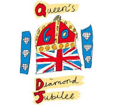 Diamond Jubilee official logo, Queen Diamond Jubilee, Diamond Jubilee