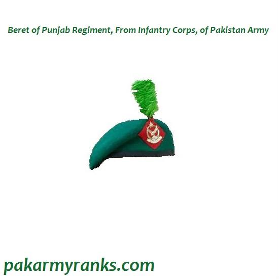Beret Of Punjab Regiment Of Pak Army