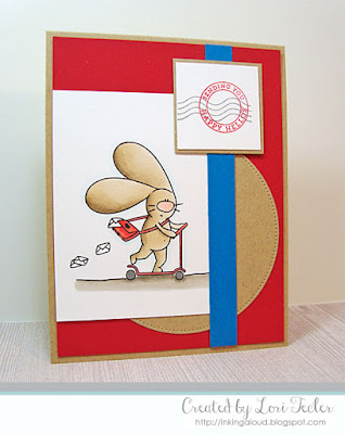 Sending You Happy Hellos card-designed by Lori Tecler/Inking Aloud-stamps from The Cat's Pajamas