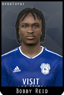 PES 2017 Faces Bobby Reid & Steven Sessegnon by Dewatupai