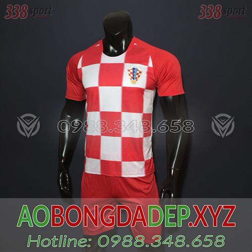 Áo Croatia 2019 Sân Nhà Màu Đỏ Trắng Đẹp