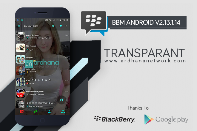 BBM Transparant V2.13.1.14 - BBM MOD Android V2.13.1.14