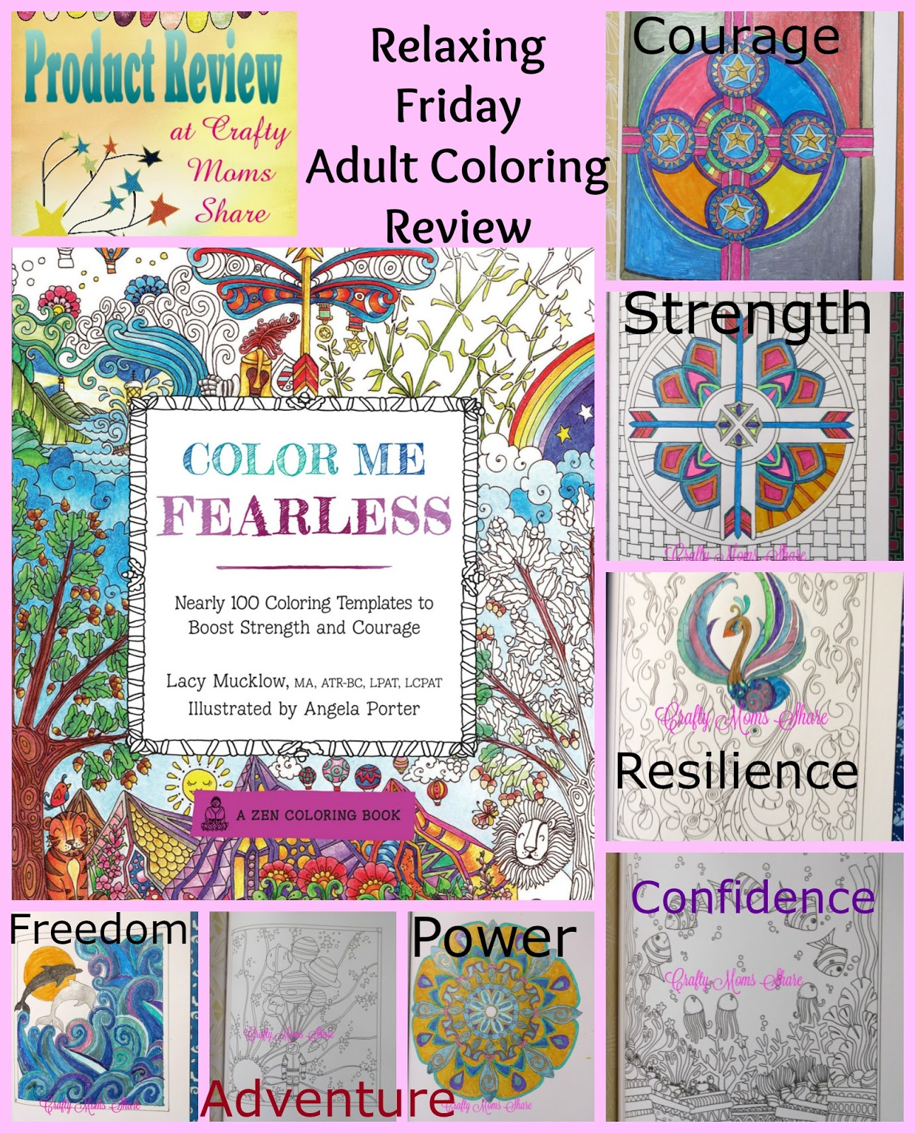 Crafty Moms Share: Color Me Fearless -- Relaxing Friday Adult ...
