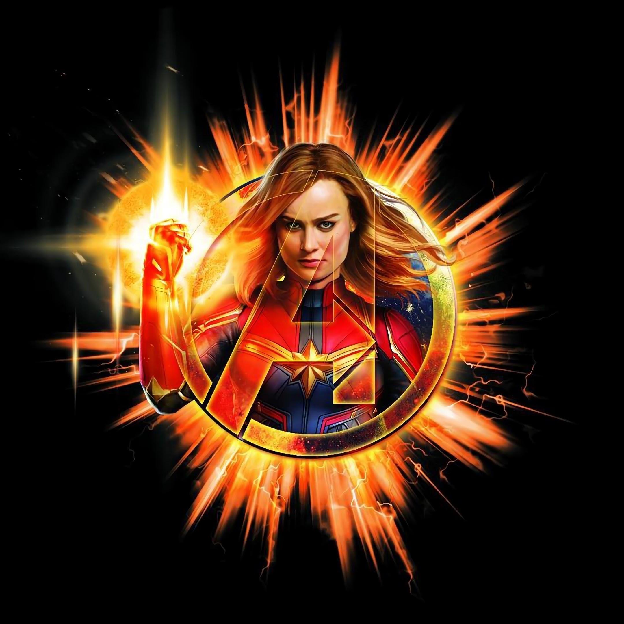 Avengers Endgame Captain Marvel 4k 26 Wallpaper