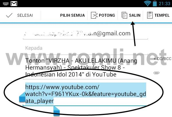 Download video youtube dari android