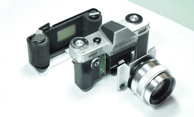 I tre moduli della fotocamera analogica Reflex