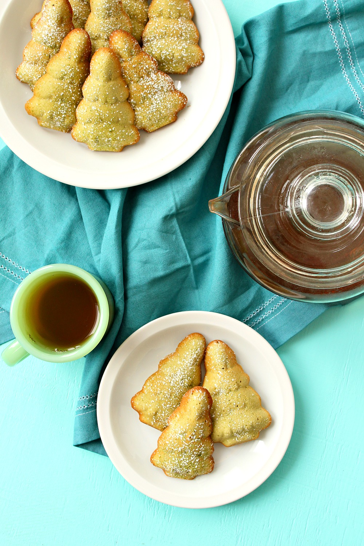Naturally Green Holiday Cake Recioe | Matcha Madeleine Cookies