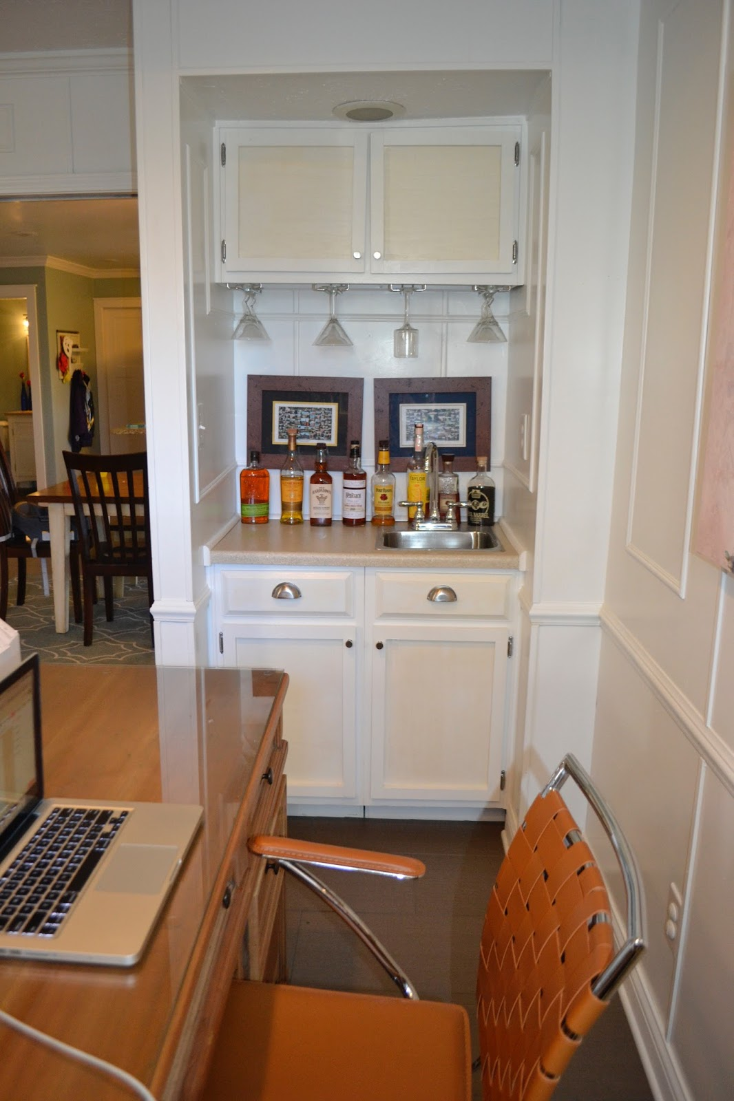 office wet bar. Built-in Wet Bar For The Fictitious \u0027smoking Room\u0027. When Building Your Own Cabinet Doors, Remind Self To Properly Prime And Layer Paint Avoid Yellowing. Office