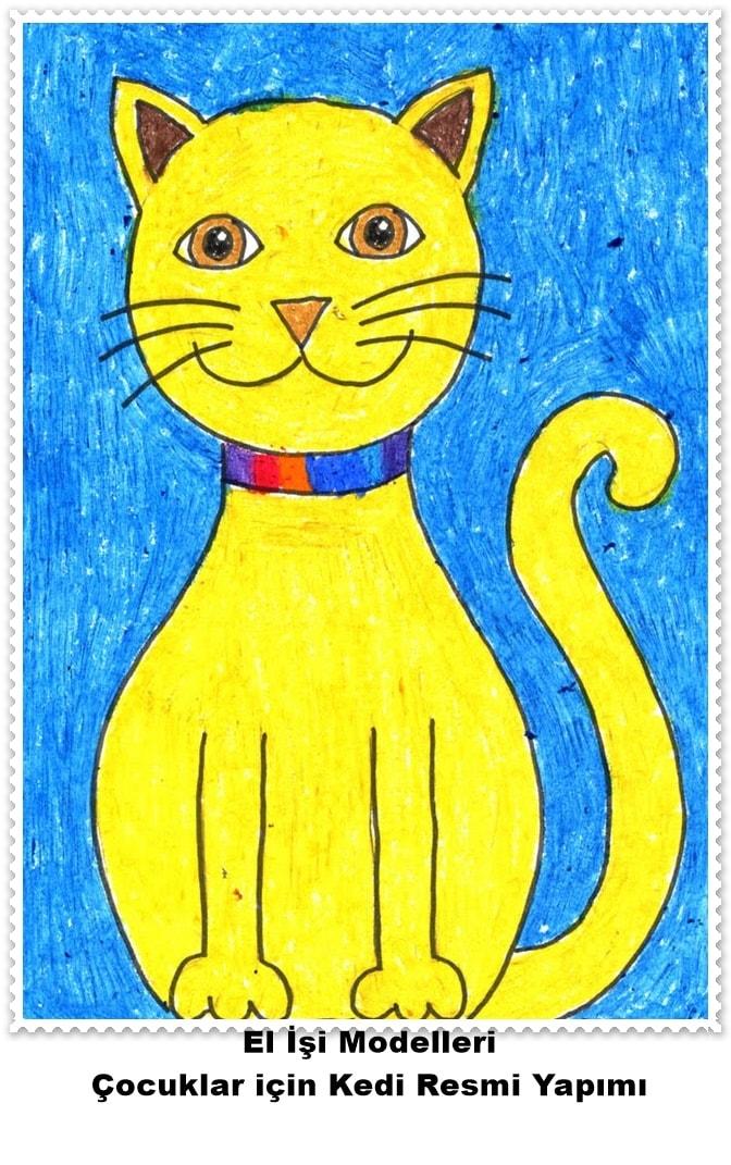 çocuklar Için Kedi Resmi Yapımı