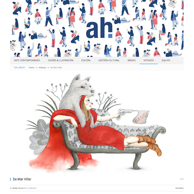 Ah magazine, prensa, ilustración, caperucita roja, entrevista a ilustradora, reseña a ilustradora, reportaje, revista