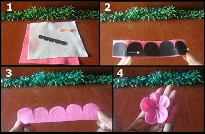 Cara Membuat Bunga Sakura Yang Mudah Dari Kain Flanel
