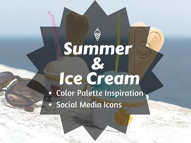 Blog Design: Καλοκαίρι και Παγωτό [Χρωματική παλέτα & Εικονίδια για τα κοινωνικά δίκτυα]