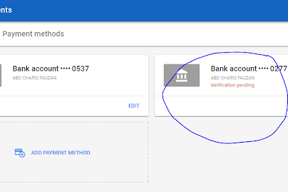 Verifikasi Akun Bank, Memastikan Google Adsense Bisa Mencairkan Penghasilan
