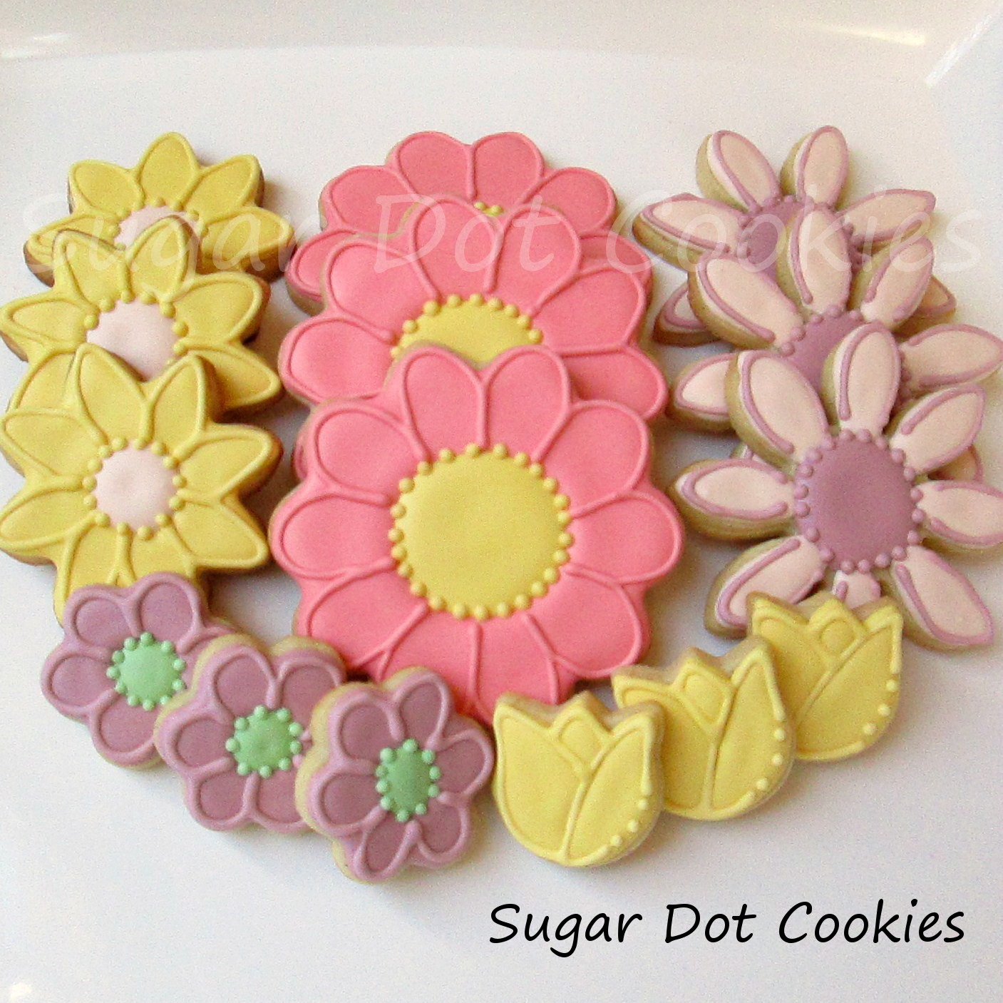 Sugar Dot Cookies: Flowers and Insects Platter - Sugar Cookies and ...