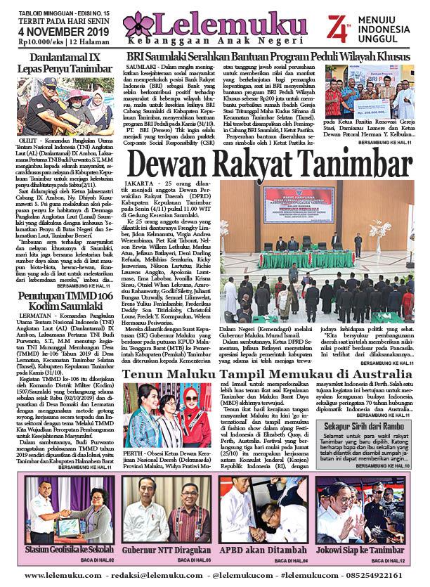 Tabloid Lelemuku #16 - Dewan Rakyat Tanimbar - 4 November 2019
