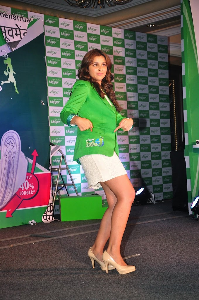 Parineeti Chopra Super Sexy Legs Show At Whisper 'Touch The Pickle' Campaign Launch In Mumbai