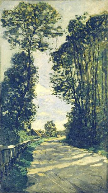 Monet the Road to Saint Simeon Farm