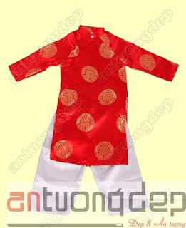 cho thuê áo dài đỏ