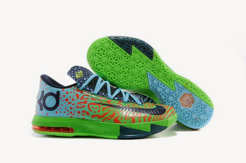 """f3b6af4a022 Nike KD 6 """"Liger"""" Color  Electric Green Night Factor-Atomic Orange Style  Code  599424-302. Release Date  03 01 14. Price   130"""