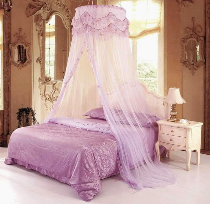 Curtain Ideas Bed Canopy Mosquito Net Purple