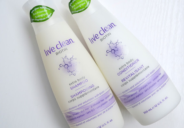 Live Clean Biotin Extra Body Shampoo and Conditioner Review