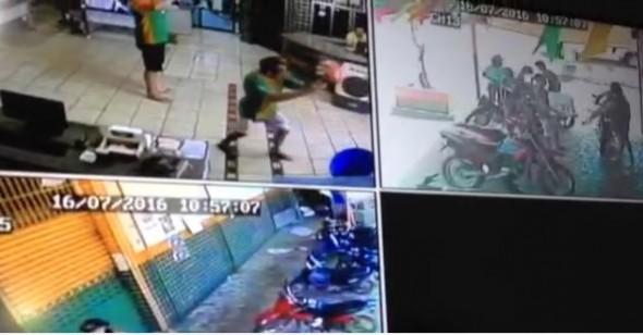 Em Esperantina bandidos armados tentam assaltar empresa e efetuam disparos