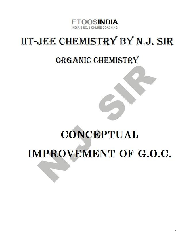 CONCEPTUAL IMPROVEMENT OF GENERAL ORGANIC CHEMISTRY BY ETOOSINDIA