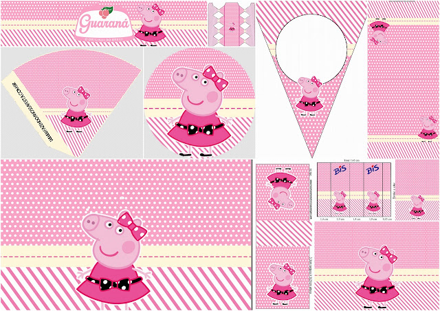 Miss Peppa Pig: Mini Kit para Imprimir Gratis.