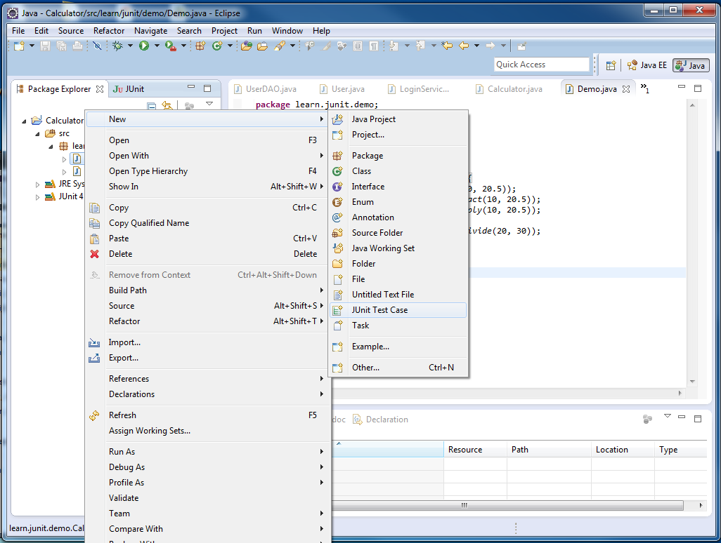 Murali S Blog Simple Example For Using Junit With Eclipse To Test Java Source Code