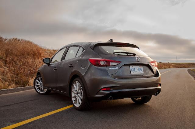 2017 Mazda 3 Sport GT Hatchback Machine Grey rear